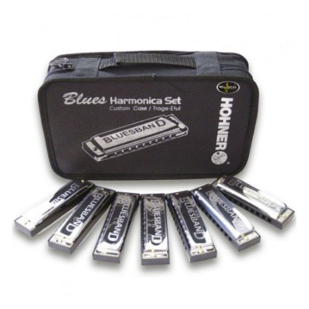 KIT Hohner Blues Band com 7 Harmônicas (C D E F G A BB)