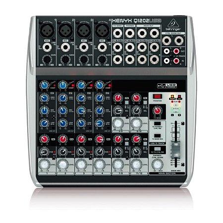 Mesa de Som Behringer Q1202USB de 12 inputs