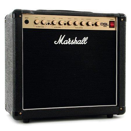 Amplificador Valvulado Marshall DSL15C Combo para guitarra 15W