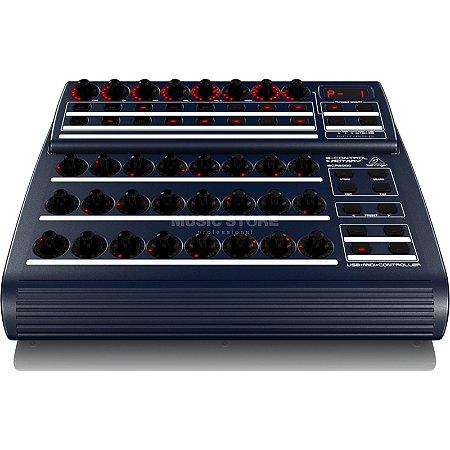 Controlador MIDI e USB Behringer BCR2000 com 32 encoders iluminados