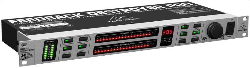 Eliminador de microfonia Behringer FBQ2496 com EQ Paramétrico
