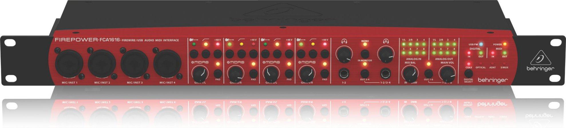 Interface de Áudio Behringer Firewire e USB FCA1616