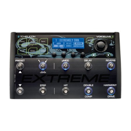 Pedaleira para Voz Guitarra e Looping Voicelive 3 Extreme TC Helicon