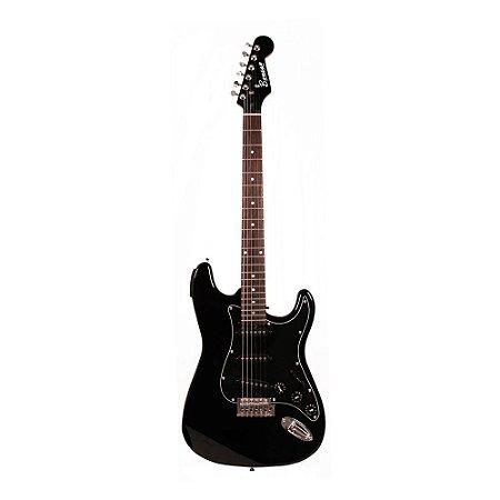 Guitarra Strato Benson All Black Tuner com afinador