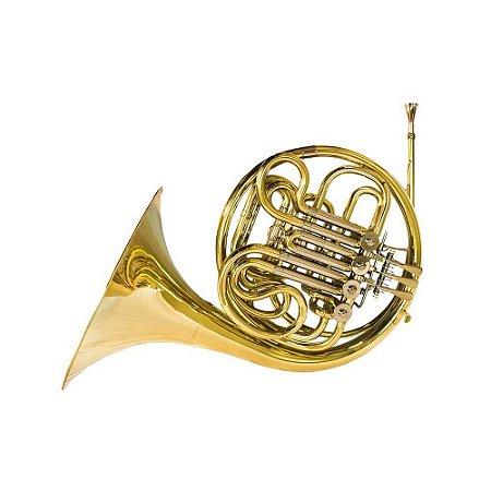 Trompa laqueada dupla afinação F e Bb Benson BFH-1L com campana interiça e case luxo