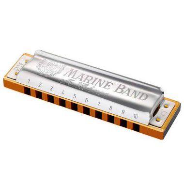 Harmônica Diatônica Hohner Marine Band 1896 A (Lá) Gaita de boca M1896106