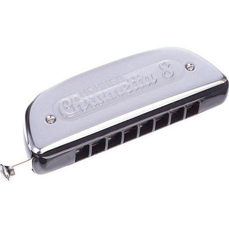 Harmônica Cromática Hohner Chrometta 8 C (Dó) Gaita de boca M25001