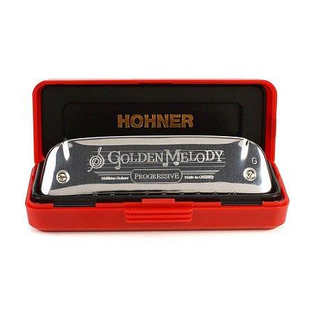 Harmônica Diatônica Hohner Golden Melody E (Mi) Gaita de Boca M542056