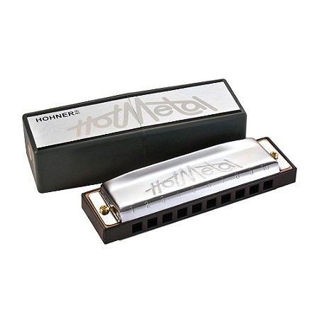 Harmônica Diatônica Hohner Hot Metal F (Fá) Gaita de Boca M57206