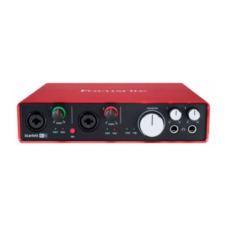 Interface de Áudio USB Focusrite Scarlett 6i6 gen. 2 c/ 6 in/6 out