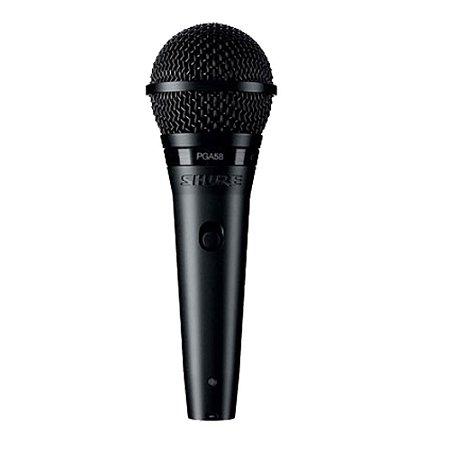 Microfone Profissional Shure PGA58 Dinâmico Cardióide
