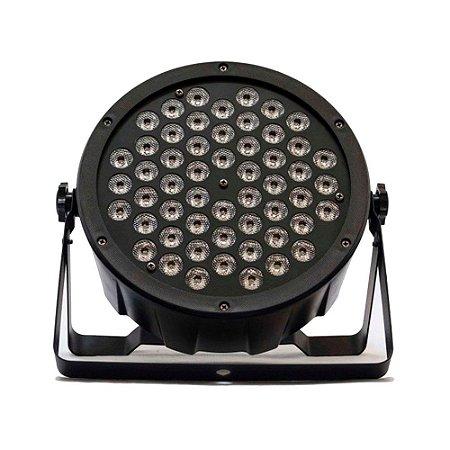 Refletor LED T-Rex Canhão Par LED Slim 54x5W RGBW DMX com Strobo BIVOLT