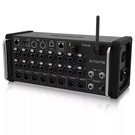 Mesa de Som Digital Midas MR18 Mixer de 18 Canais