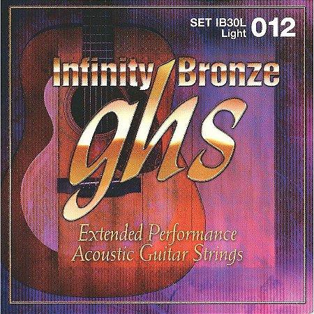 Encordoamento para Violão de Aço GHS IB30L Light Série Infinity Bronze