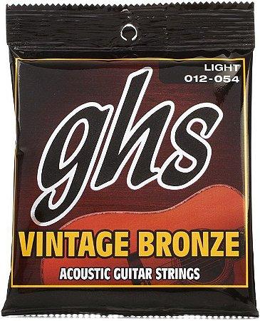 Encordoamento para Violão de Aço GHS VN-L Vintage Bronze Light