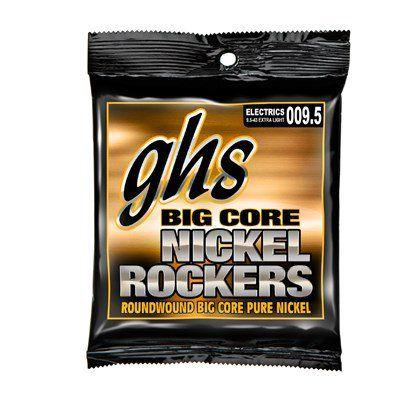 Encordoamento para Guitarra Elétrica GHS BCXL Extralight Série Big Core (contém 6 cordas)