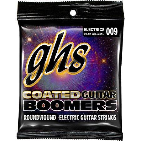 Encordoamento para Guitarra Elétrica GHS CB-GBXL Extralight Série Coated Boomers (contém 6 cordas)