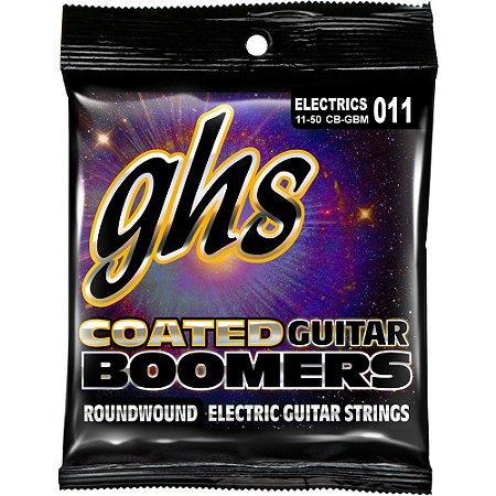 Encordoamento para Guitarra Elétrica GHS CB-GBM Medium Série Coated Boomers (contém 6 cordas)