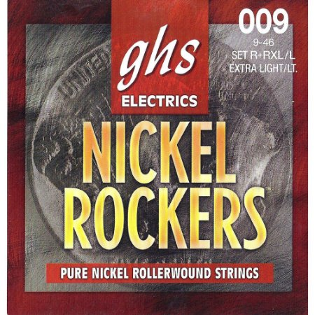 Encordoamento para Guitarra Elétrica GHS R+RXL/L Extralight/Light Série Nickel Rockers (contém 6 cordas)