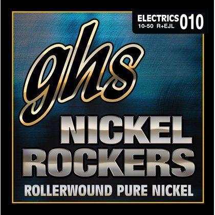 Encordoamento para Guitarra Elétrica GHS R+EJL Custom Light Série Nickel Rockers (contém 6 cordas)