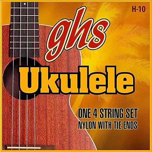 Encordoamento para Ukulele GHS 10 em Nylon Afinação ''D-Tuning''