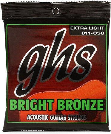 Encordoamento de Aço para Violão GHS Bronze BB20X