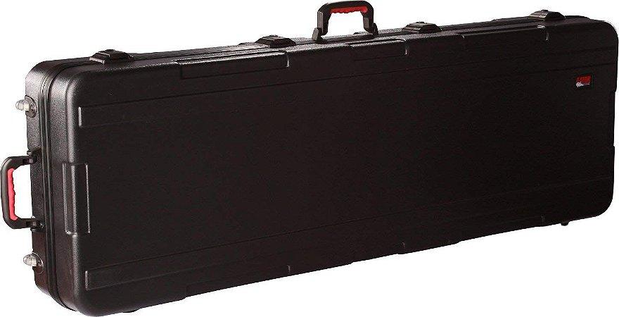 Case para Teclado 88 Teclas Gator GKPE-88D-TSA Com Rodas em Polietileno Militar