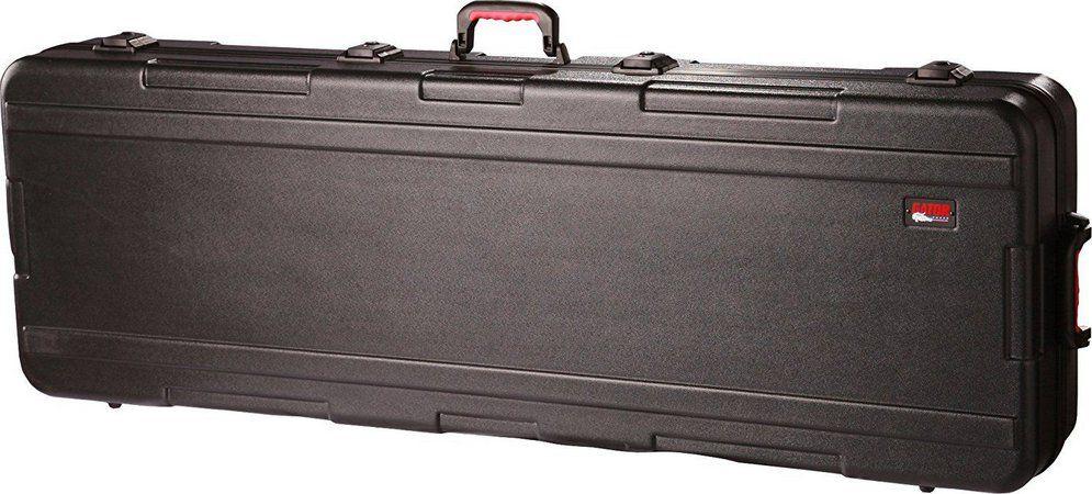 Case Slim para Teclado 88 Teclas Gator GKPE-88SLIM-TSA Com Rodas em Polietileno Militar