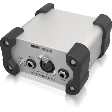 Direct Box Ativo Klark Teknik DI 10A com Transformador Midas