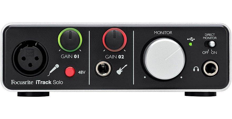 Interface de Áudio USB Focusrite iTrack Solo 2 Lighting