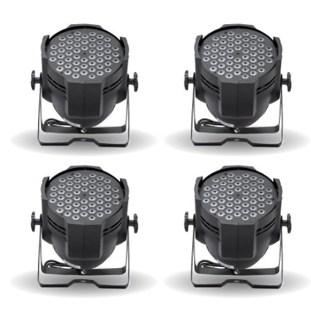 KIT de Iluminação 4 Canhões de LED T-Rex 54 RGBW 1W (4Un)