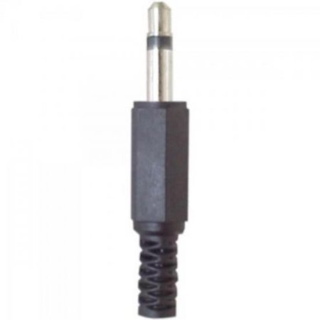 Plug P2 Mono Plástico Preto GENÉRICO (5 UN)