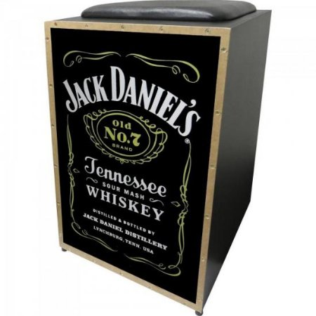 Cajon Eletroacústico Inclinado Profissional K2 COR-008 EQ Jack Daniels JAGUAR