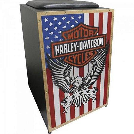 Cajon Eletroacústico Inclinado Profissional K2 COR-005 EQ Harley Davidson JAGUAR