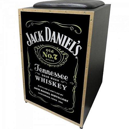 Cajon Acústico Inclinado Profissional K2 COR-008 Jack Daniels JAGUAR