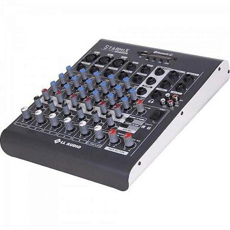 Mesa de Som 6 Canais Stereo Starmix XMS602R Cinza LL AUDIO