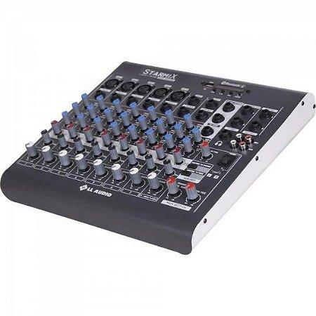 Mesa de Som 8 Canais Stereo Starmix XMS802R Cinza LL AUDIO