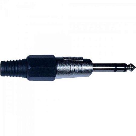 Plug P10 Stereo Plástico Preto PGPZ0013 STORM