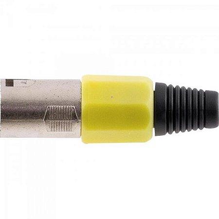 Conector Cannon XLR Macho PGCN0008 Plástico Amarelo STORM