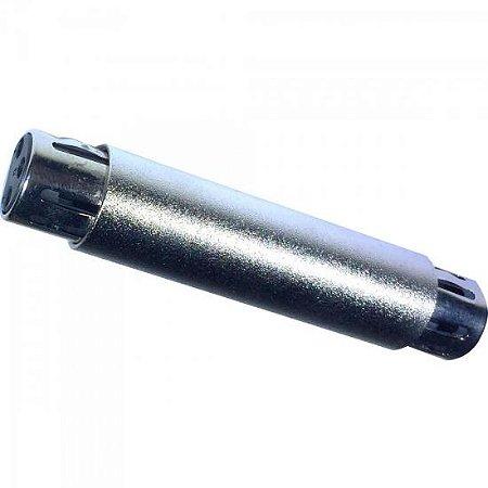 Emenda XLR x XLR em Metal EMCN0001 Prata STORM