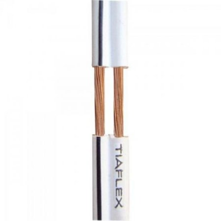 Fio Polar Ext 2x0,30mm 22 Branco TIAFLEX (100m)