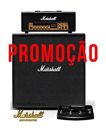 Set Marshall Amp Code 100H + Caixa Code412 + Footswitch Promo