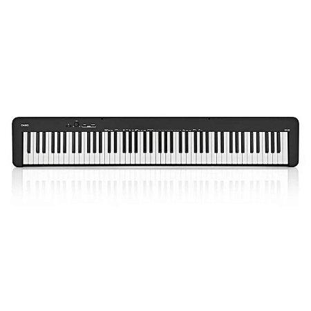 Piano Digital Casio CDP-S100 Preto 88 Teclas Ponderadas Hammer Action Bivolt