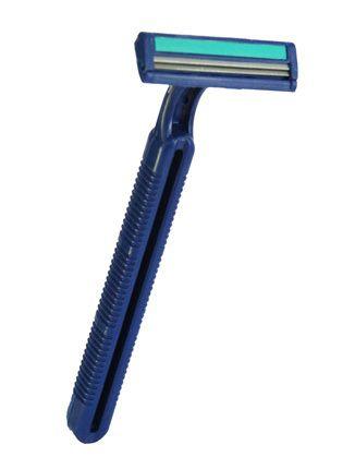 Aparelho de Barbear Descartável 2 Laminas Fita Lubrificada C/50 Unidades