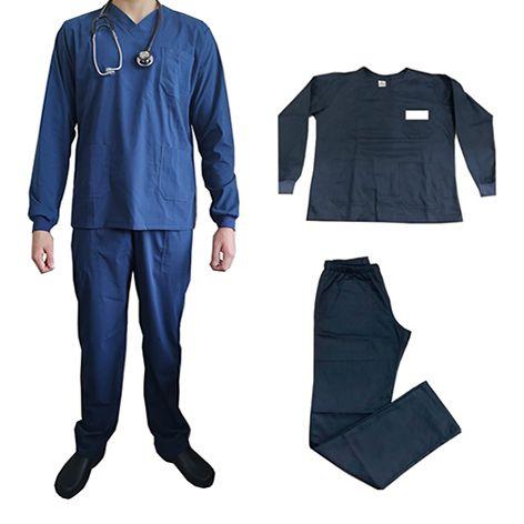 Vestimenta Hospitalar Em Tecido Manga Longa