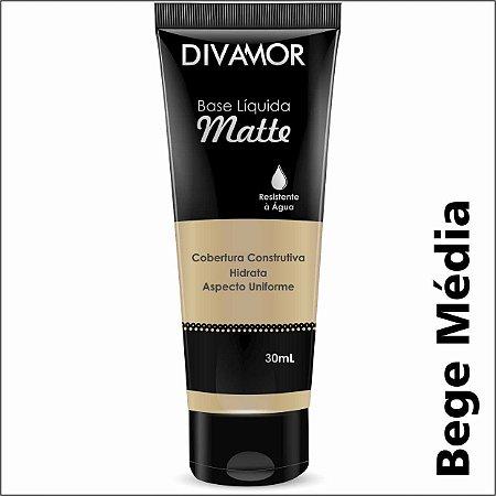 * Divamor Base Liq Matte R. Agua Bege Media