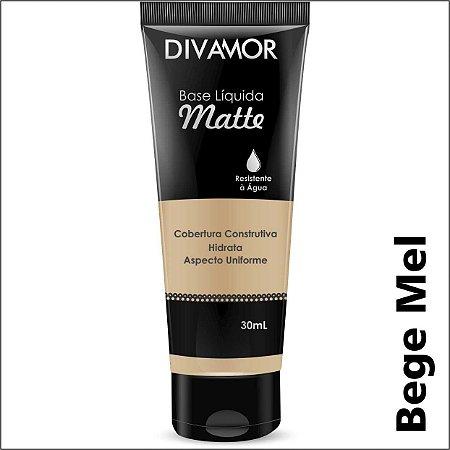 * Divamor Base Liq Matte R. Agua Bege Mel