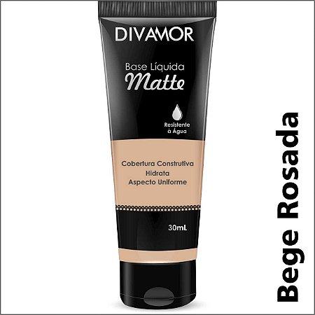 * Divamor Base Liq Matte R. Agua Bege Rosada
