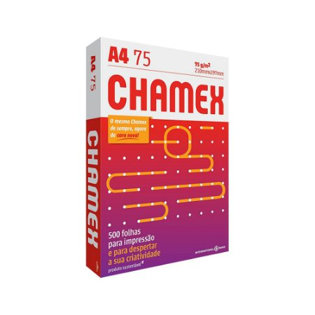 Papel Sulfite 75g Alcalino A4 Chamex Office 500 fls
