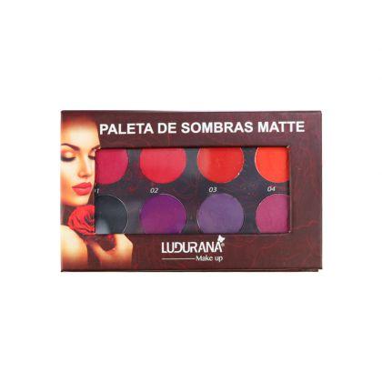 Paleta de Sombras Matte 8 Cores - Ludurana